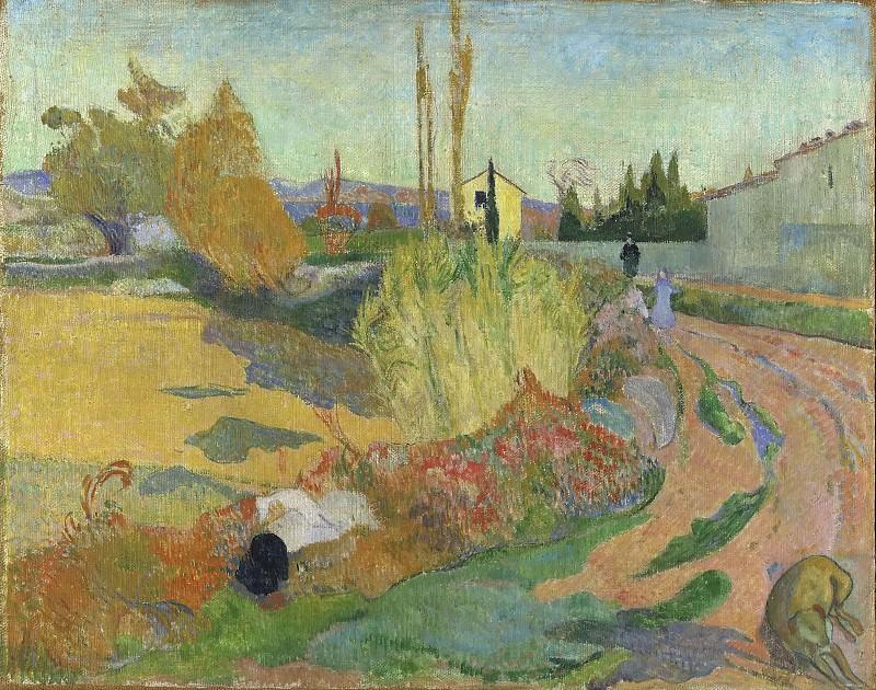 Landscape from Arles. Paul Gauguin
