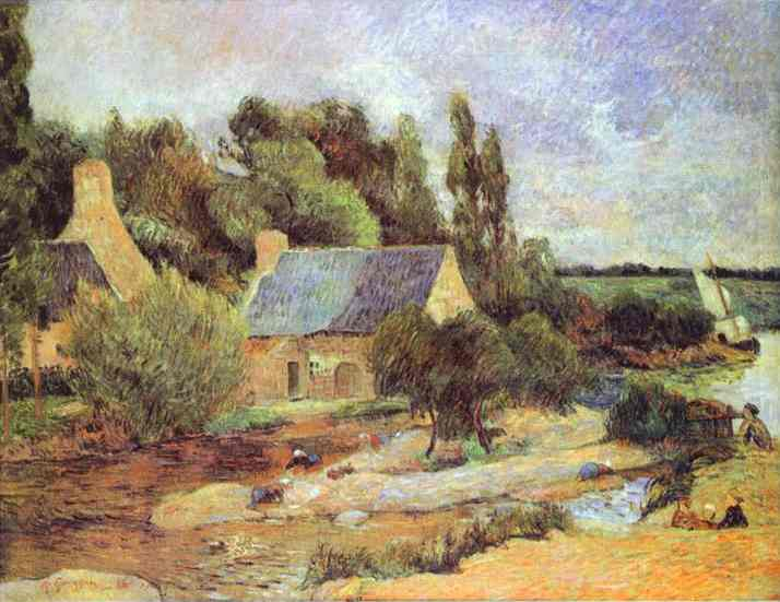 Washerwomen At Pont-Aven. Paul Gauguin