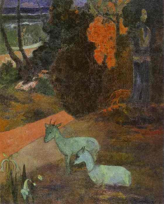 Tarari Maruru (Landscape With Two Goats). Paul Gauguin