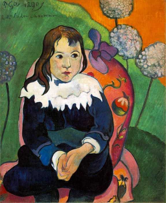 M Loulou, 1890, 55 x 46.2 cm, Barnes foundation. Paul Gauguin