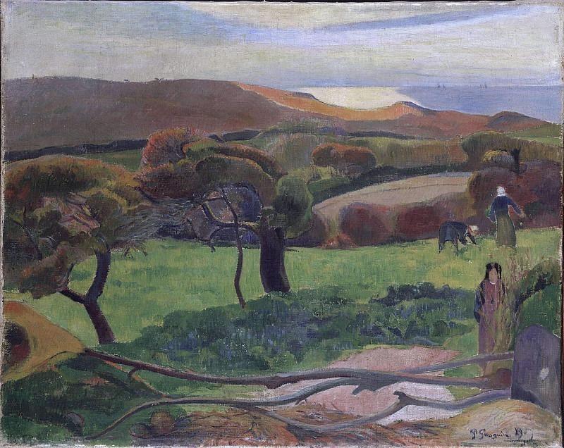 Пейзаж из Бретани. Поль Гоген