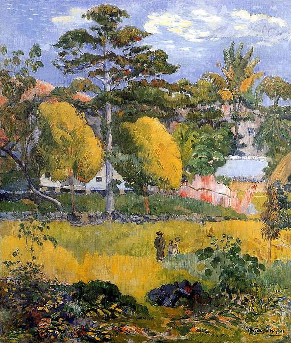 Family stroll. Paul Gauguin