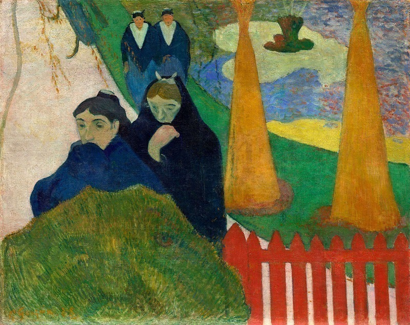 Women From Arles In The Public Garden, The Mistral. Paul Gauguin