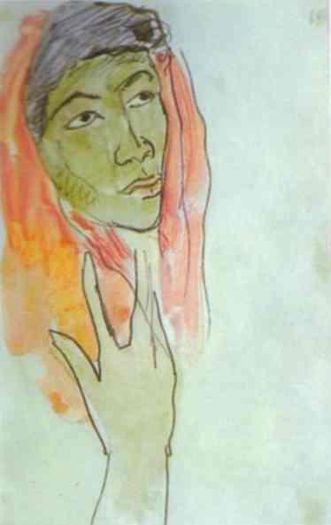 Head Of A Woman. Paul Gauguin