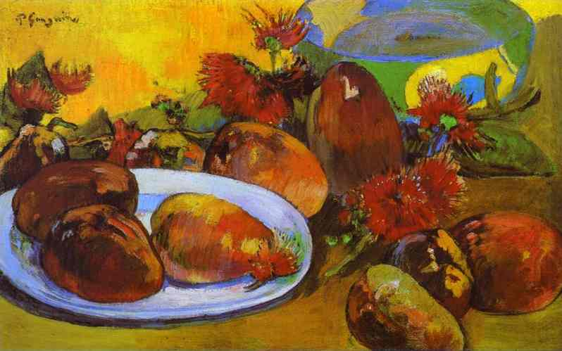 Still Life With Mangoes. Paul Gauguin