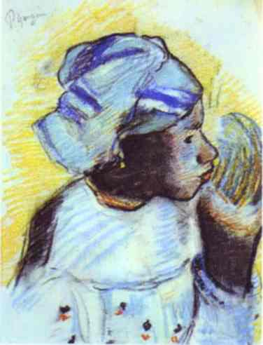 Head Of A Negress. Paul Gauguin
