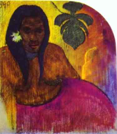 Tahitian Woman. Paul Gauguin