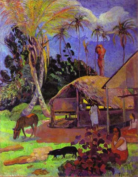 Black Pigs. Paul Gauguin