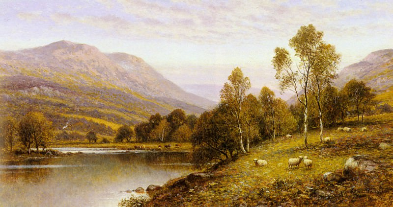 Augustus Early Evening Cumbria. Alfred Glendening