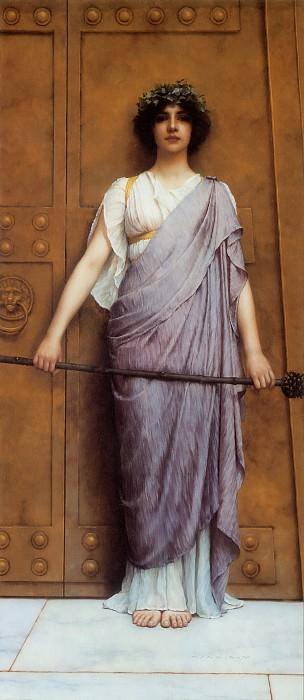 The Priestess of Bacchus. John William Godward