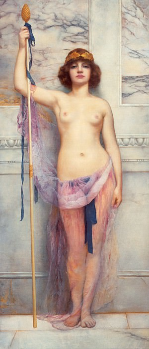 A Priestess. John William Godward