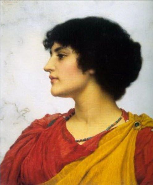 An Italian Girls Head. John William Godward