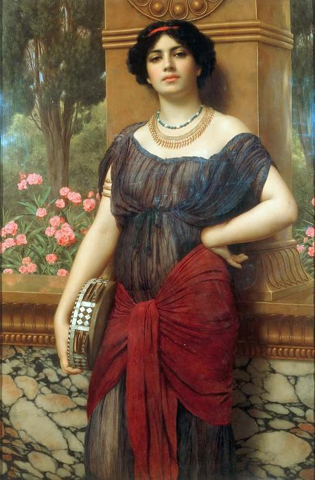 The Tambourine Girl. John William Godward
