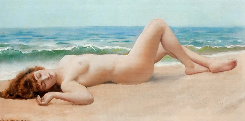 Nu Sur La Plage. John William Godward