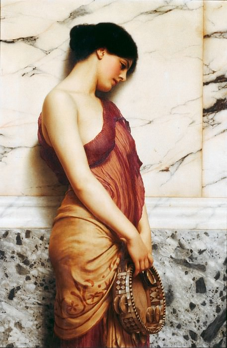 The Tambourine Girl. John William Godward