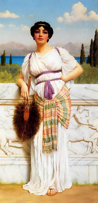 A Greek Beauty. John William Godward