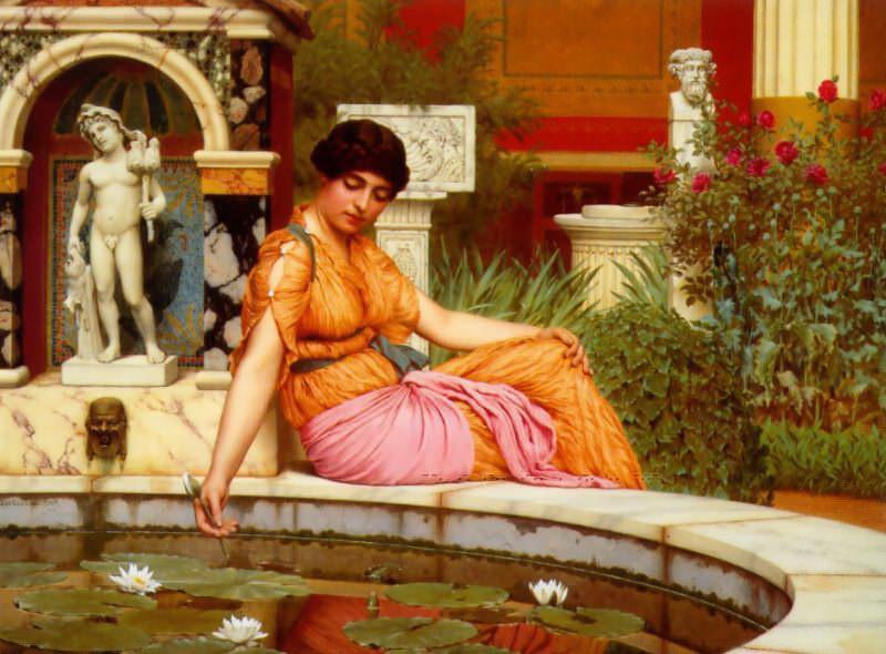 A Lily Pond. John William Godward