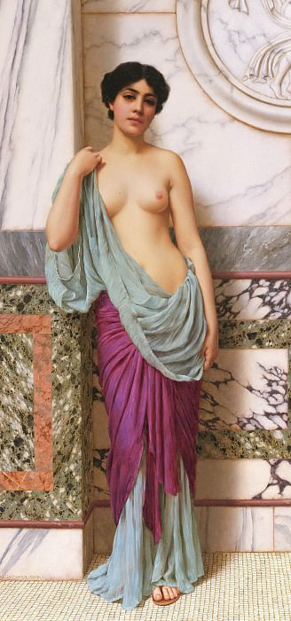In the Tepidarium. John William Godward