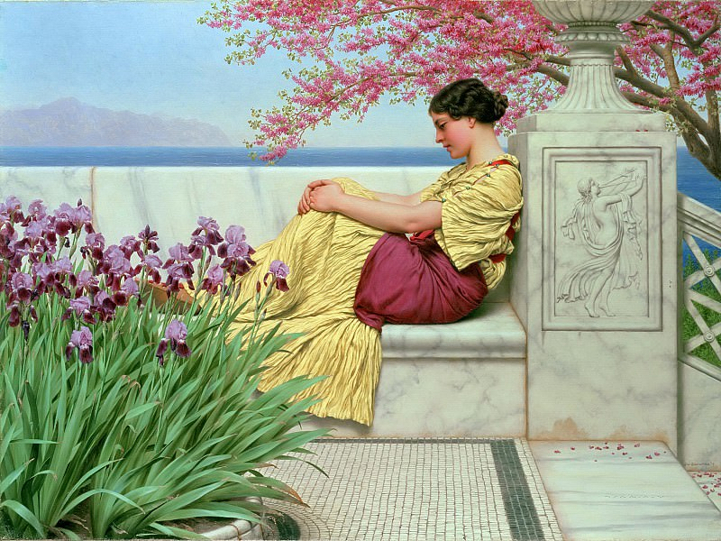 Under the Blossom that Hangs on the Bough. John William Godward