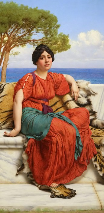 By the Blue Ionian Sea. John William Godward