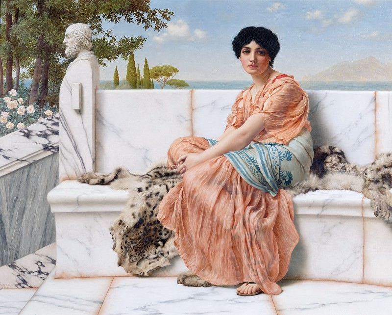 In the Days of Sappho. John William Godward