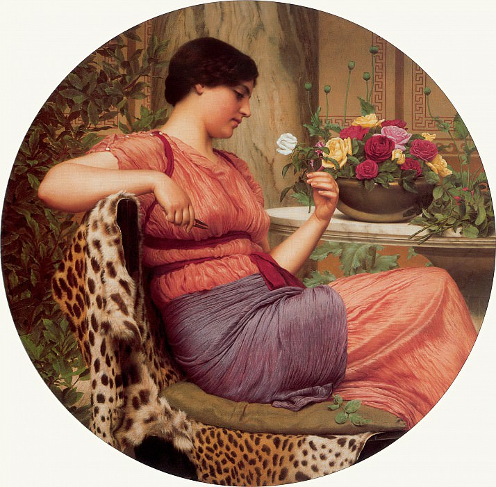The Time of Roses. John William Godward