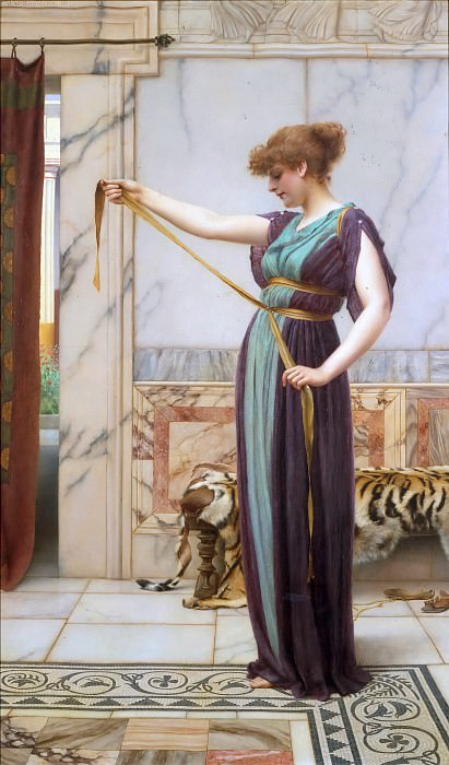 A Pompeian Lady. John William Godward