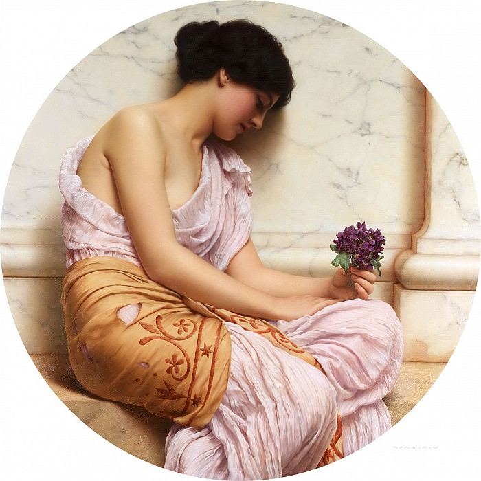 Violets. John William Godward