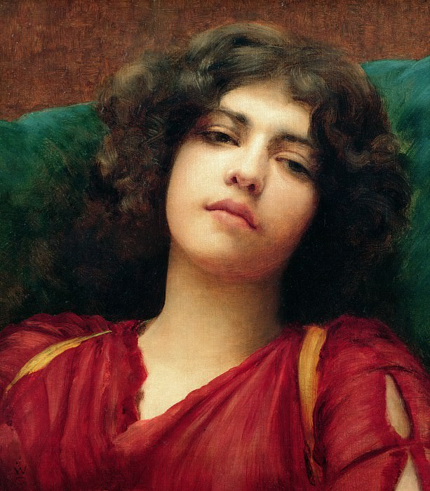 Reverie (Study). John William Godward