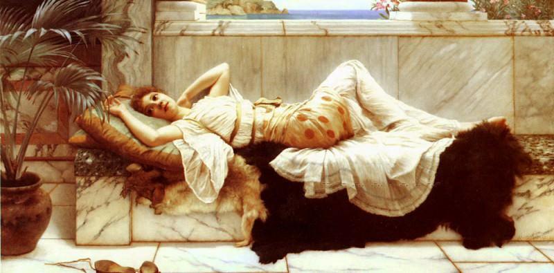 Resting. John William Godward