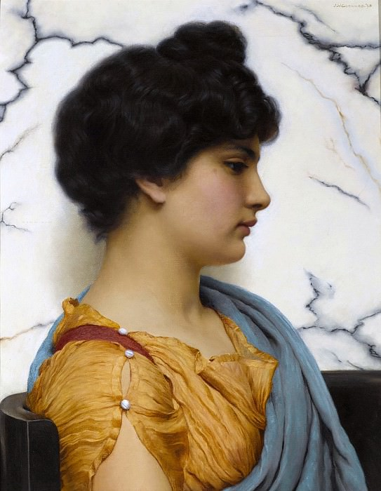 An Arcadian beauty. John William Godward