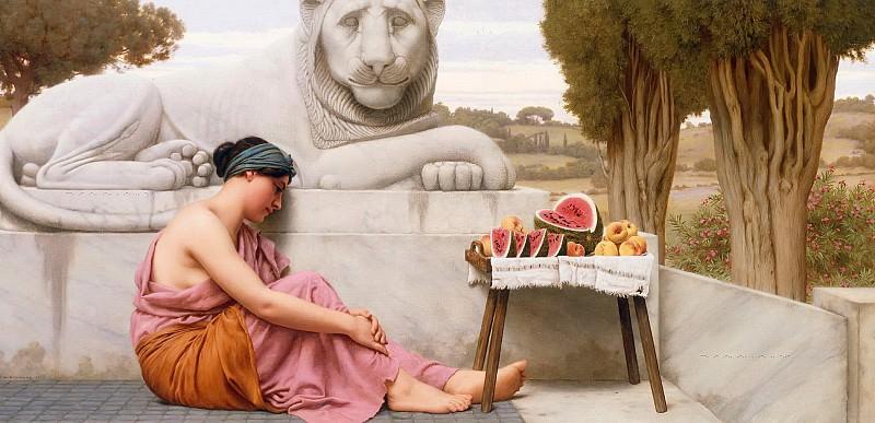 The Fruit Vendor. John William Godward