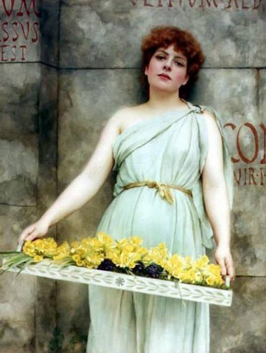 A Flower Seller. John William Godward