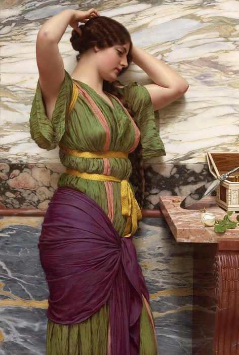 A FAIR REFLECTION. John William Godward