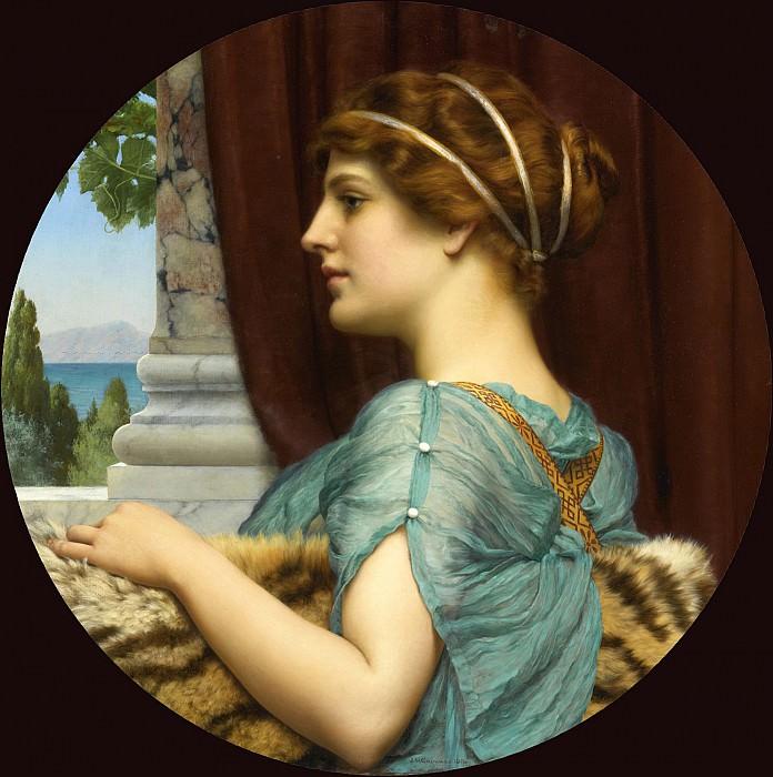 A Pompeian Lady. John William Godward