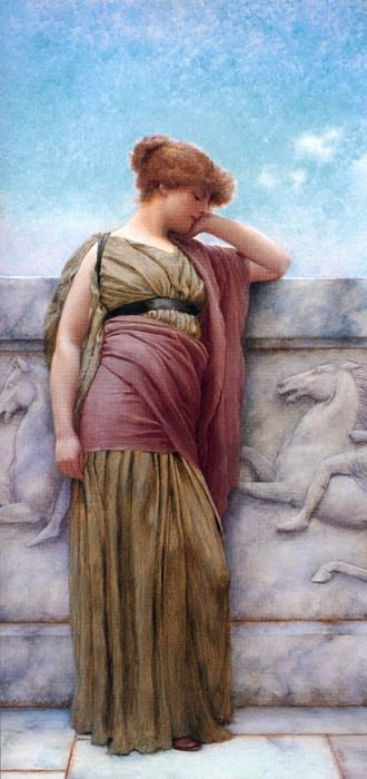 On the Balcony. John William Godward