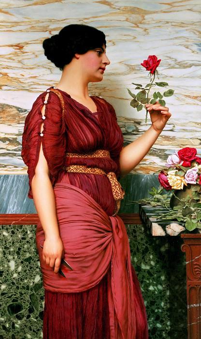 A Red Rose. John William Godward