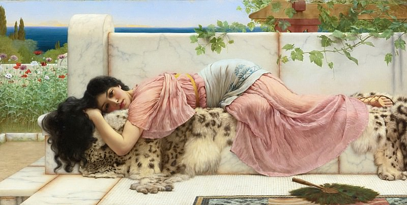 WHEN THE HEART IS YOUNG. John William Godward