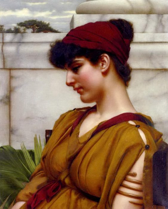 A Classical Beauty In Profile. John William Godward