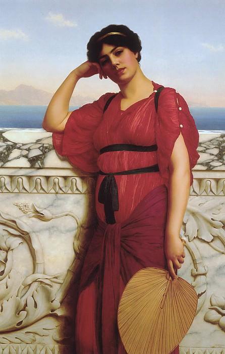 A Classical Lady. John William Godward