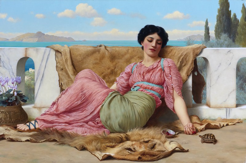 The quiet pet. John William Godward