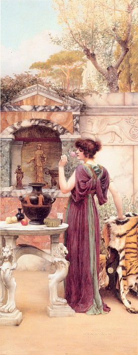 At the Garden Shrine Pompeii. John William Godward
