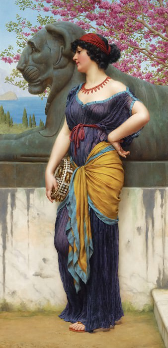 IN THE TEMPLE OF ISIS. John William Godward