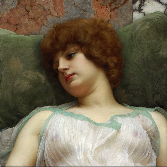 Idle moments. John William Godward