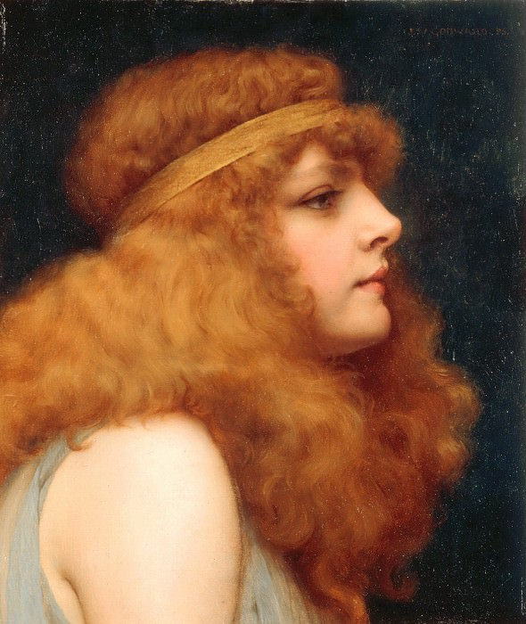 An Auburn Beauty. John William Godward