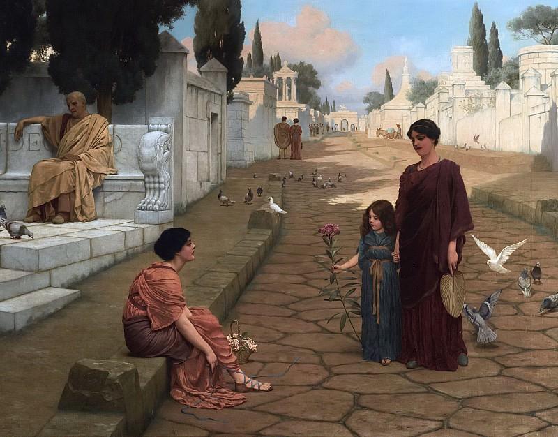 Outside the gates of Pompeii. John William Godward