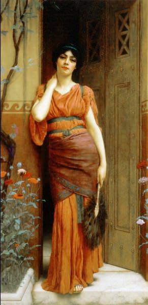 At the Garden Door. John William Godward