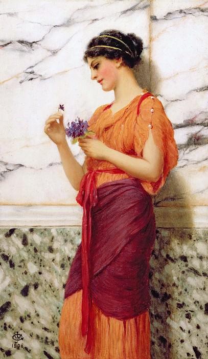 Violets. John William Godward