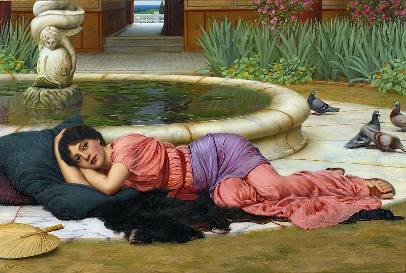A Cool Retreat. John William Godward
