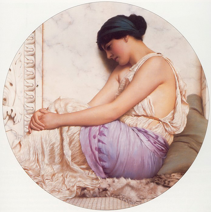 A Grecian Girl. John William Godward